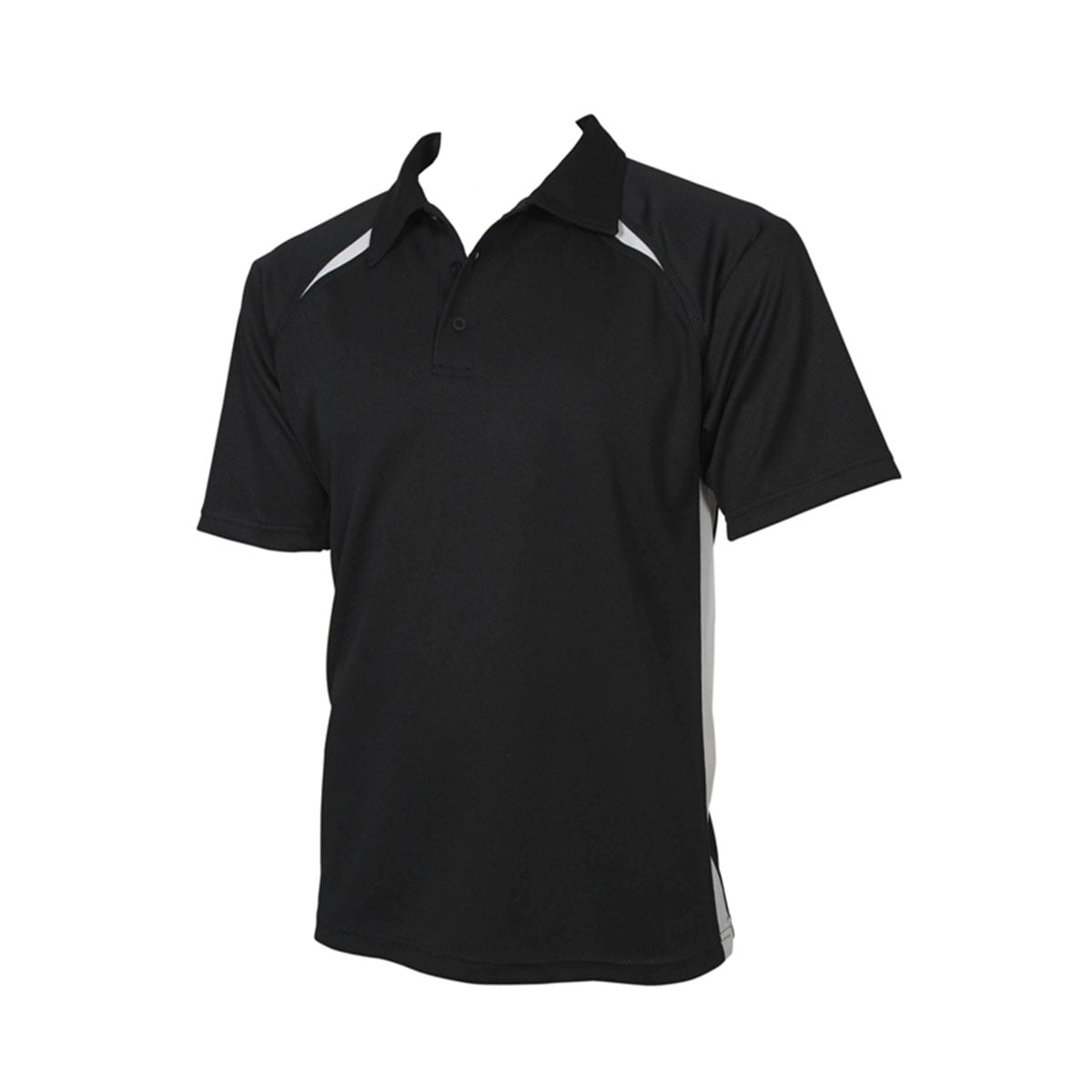 Mens Splice Polo-Black / White