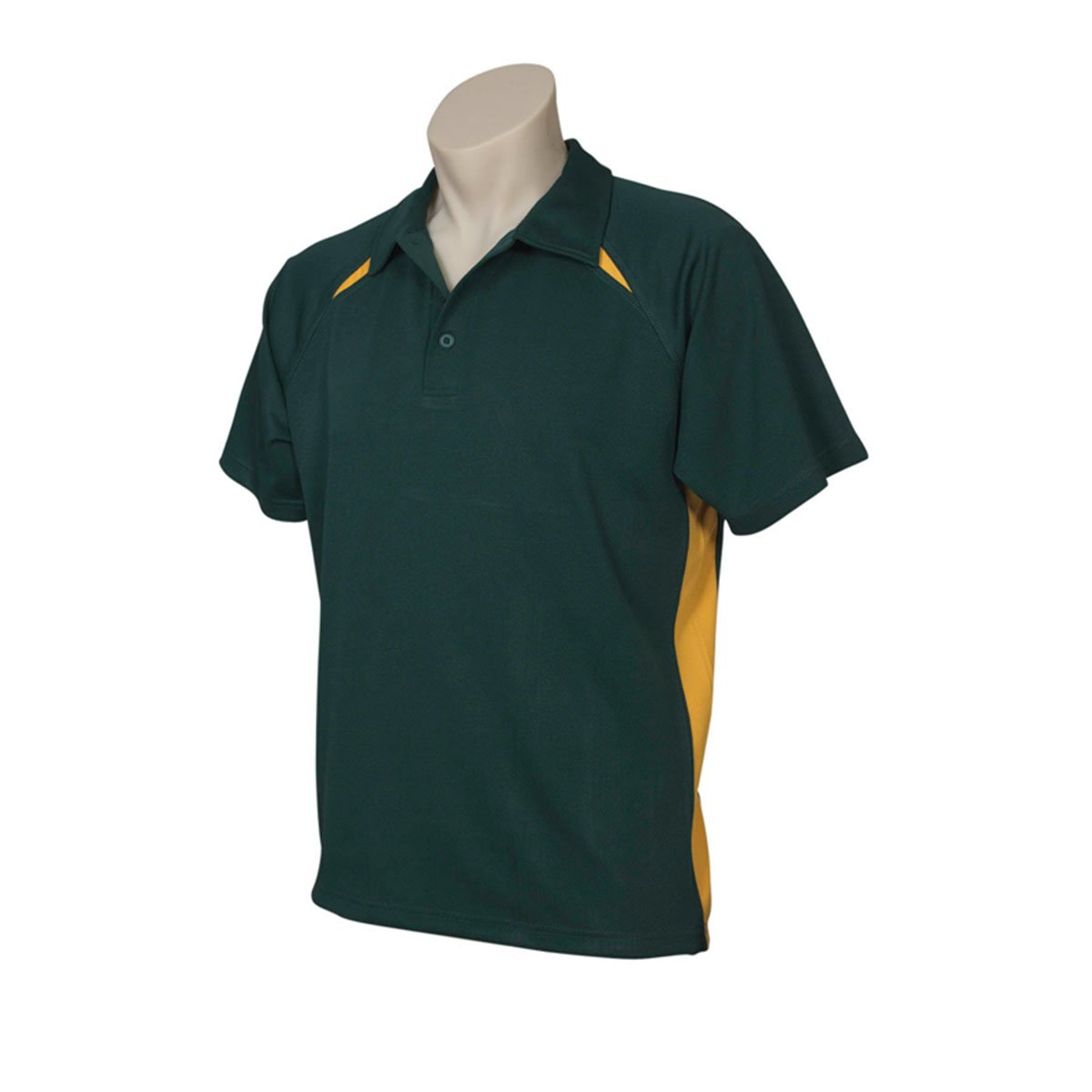 Mens Splice Polo-Forest / Gold