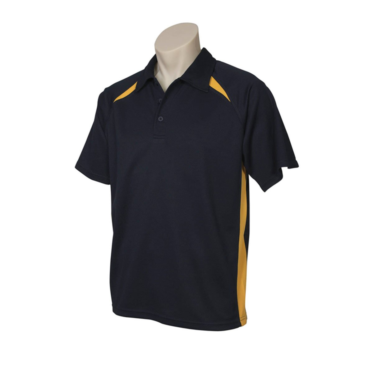 Mens Splice Polo-Navy / Gold