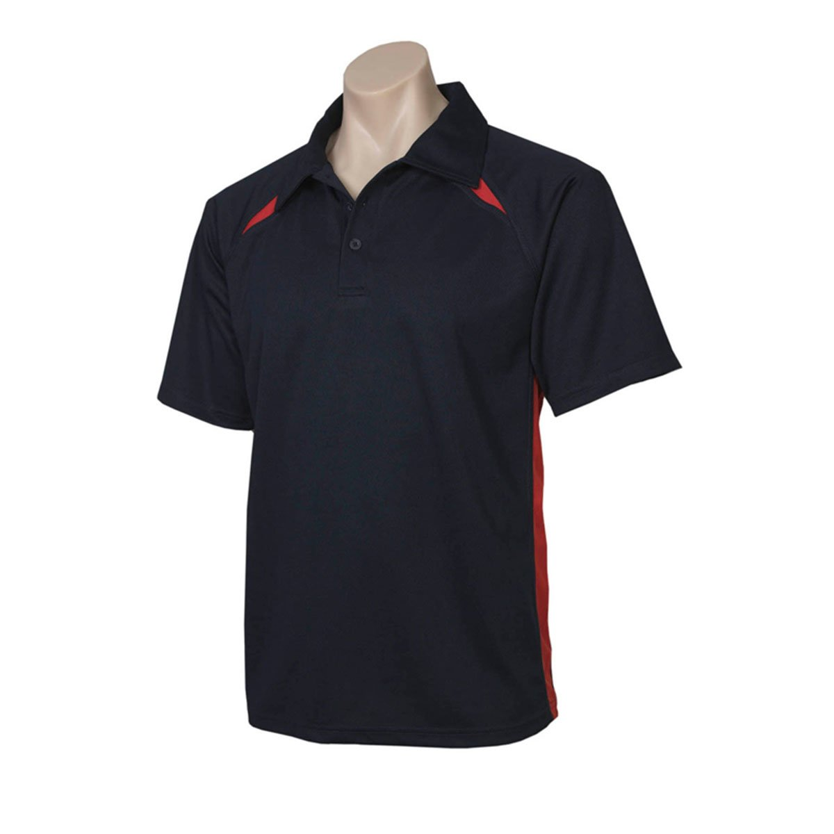 Mens Splice Polo-Navy / Red