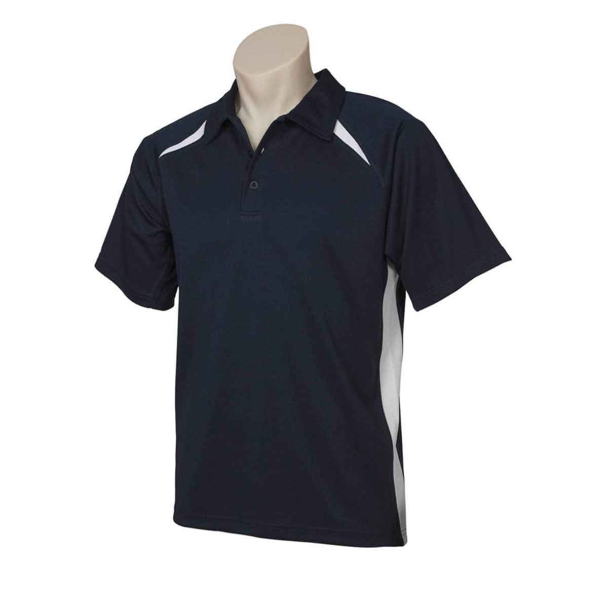 Mens Splice Polo-Navy / White