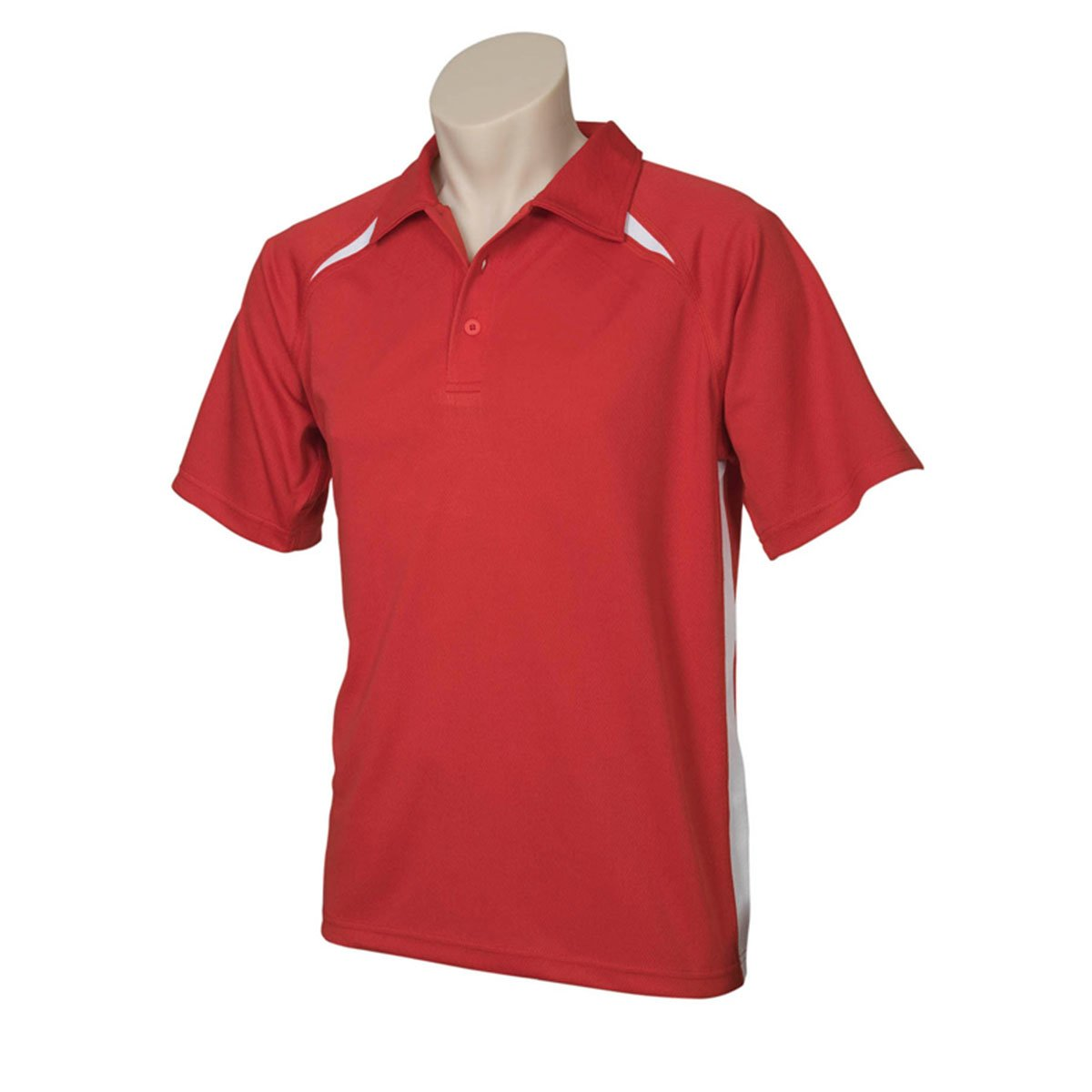 Mens Splice Polo-Red / White