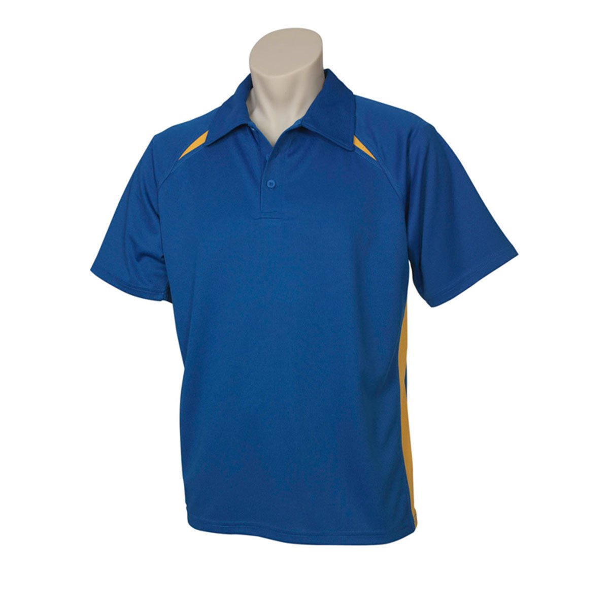 Mens Splice Polo-Royal / Gold