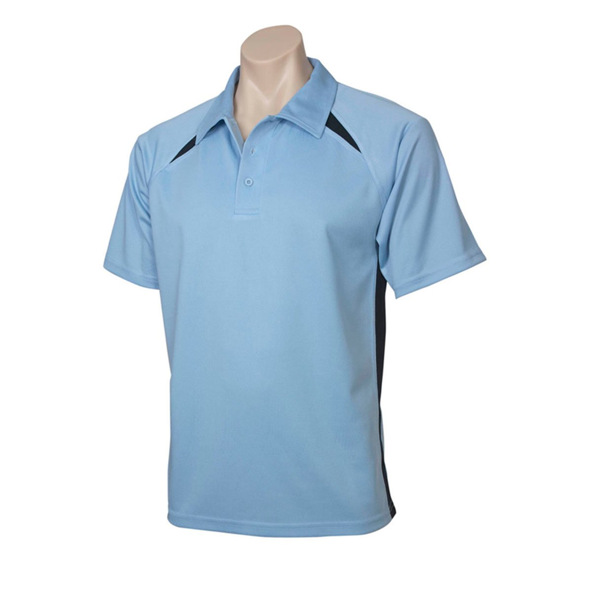 Mens Splice Polo-SpringBlue / Navy
