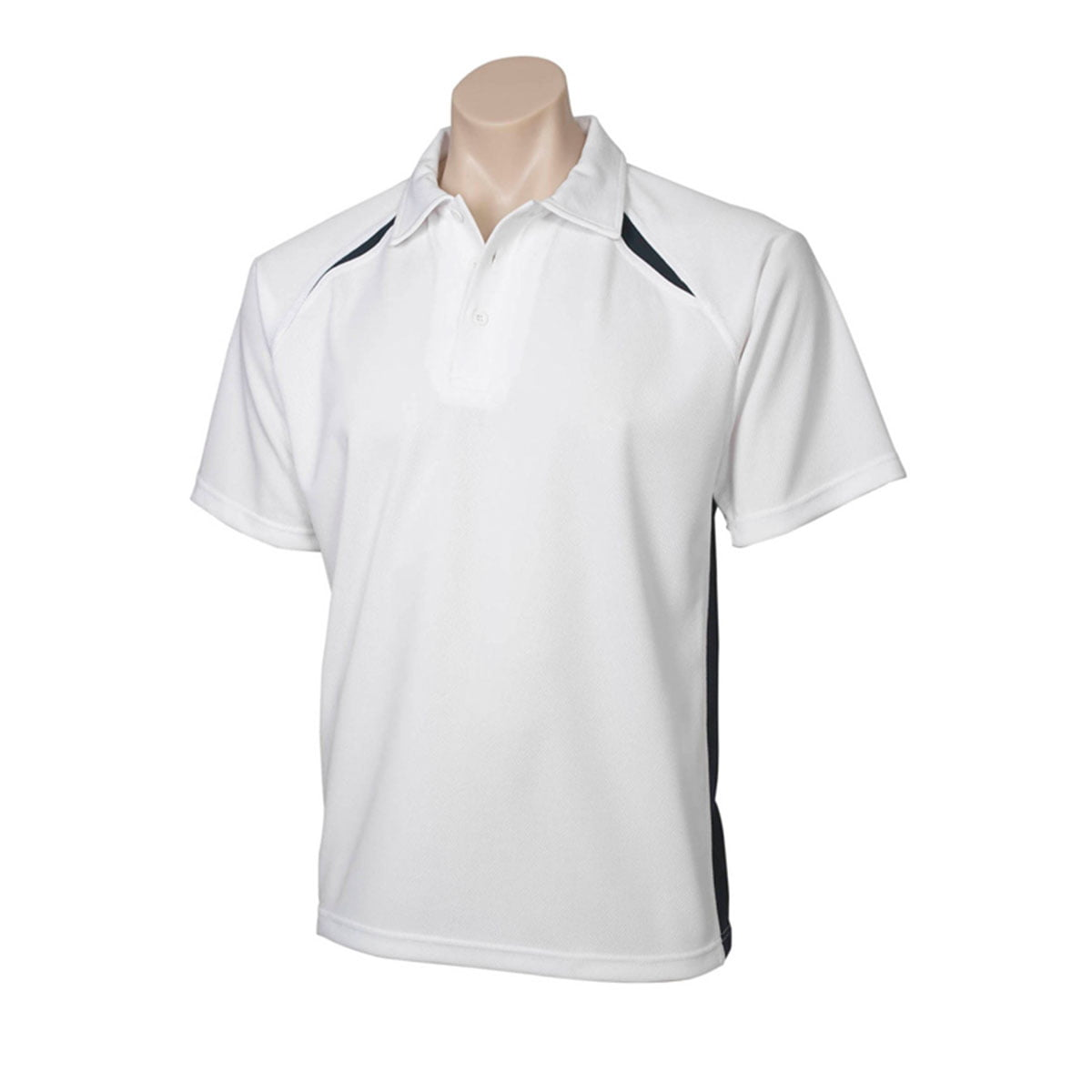 Mens Splice Polo-White / Navy