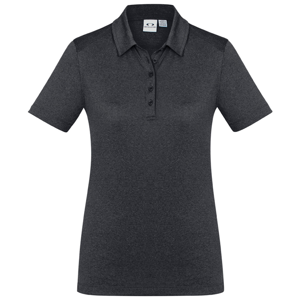 Ladies Aero Polo-Charcoal