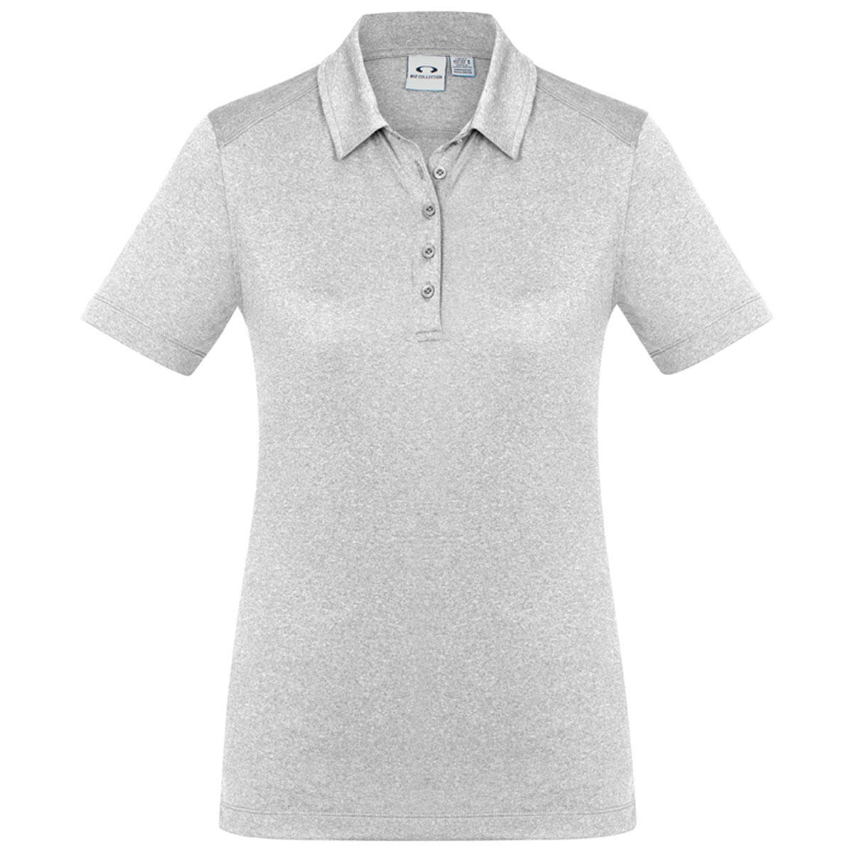 Ladies Aero Polo-Silver