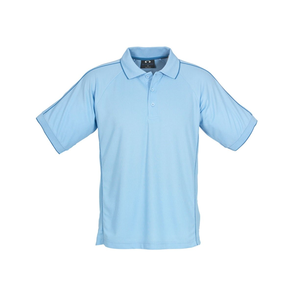 Mens Resort Polo-Spring Blue / Mid Blue
