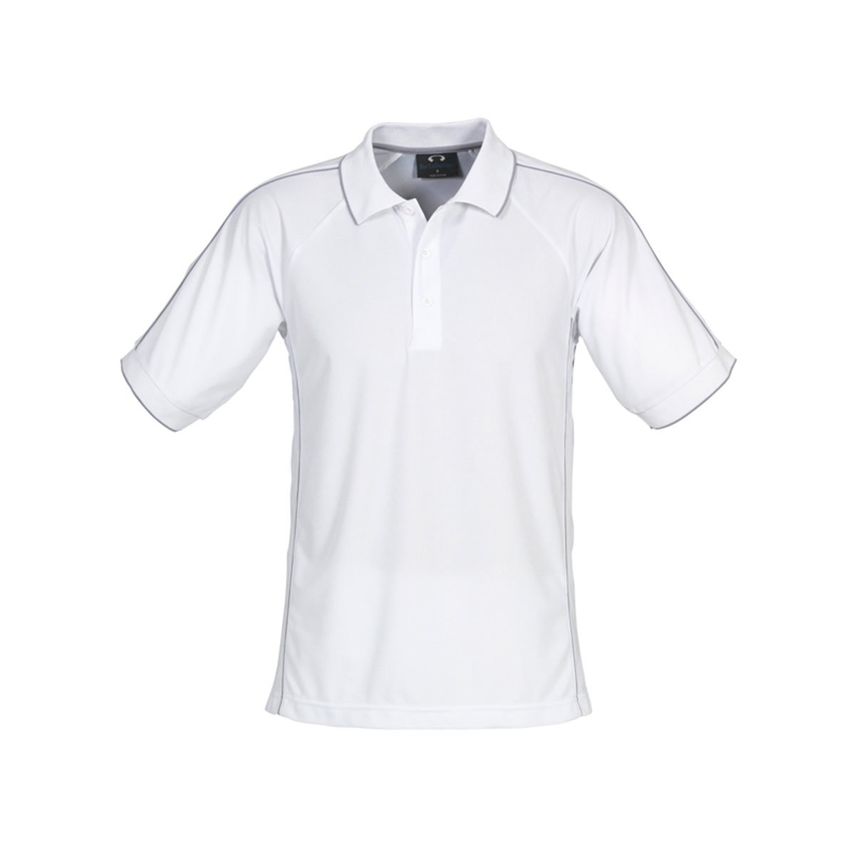 Mens Resort Polo-White / Charcoal
