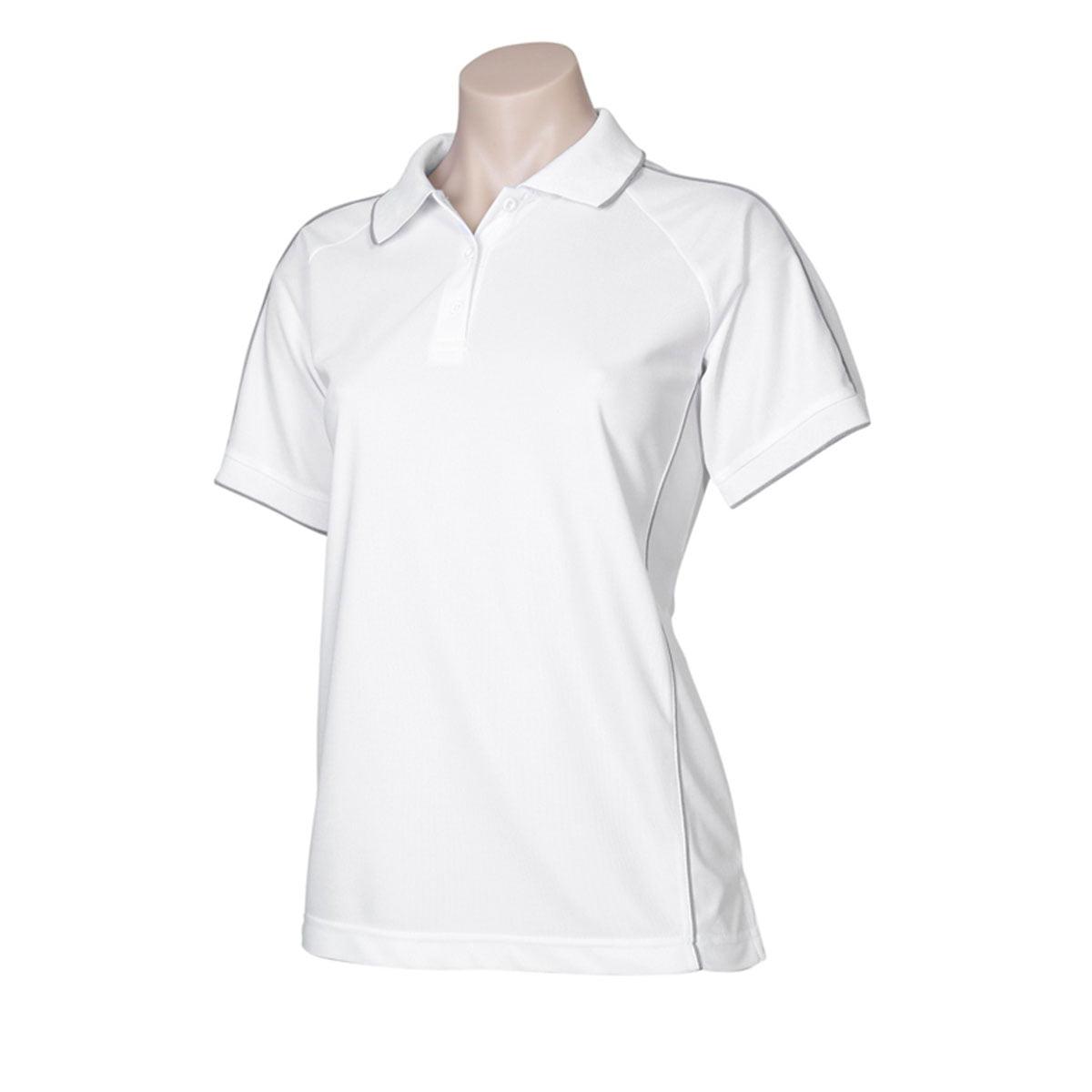 Ladies Resort Polo-White / Charcoal
