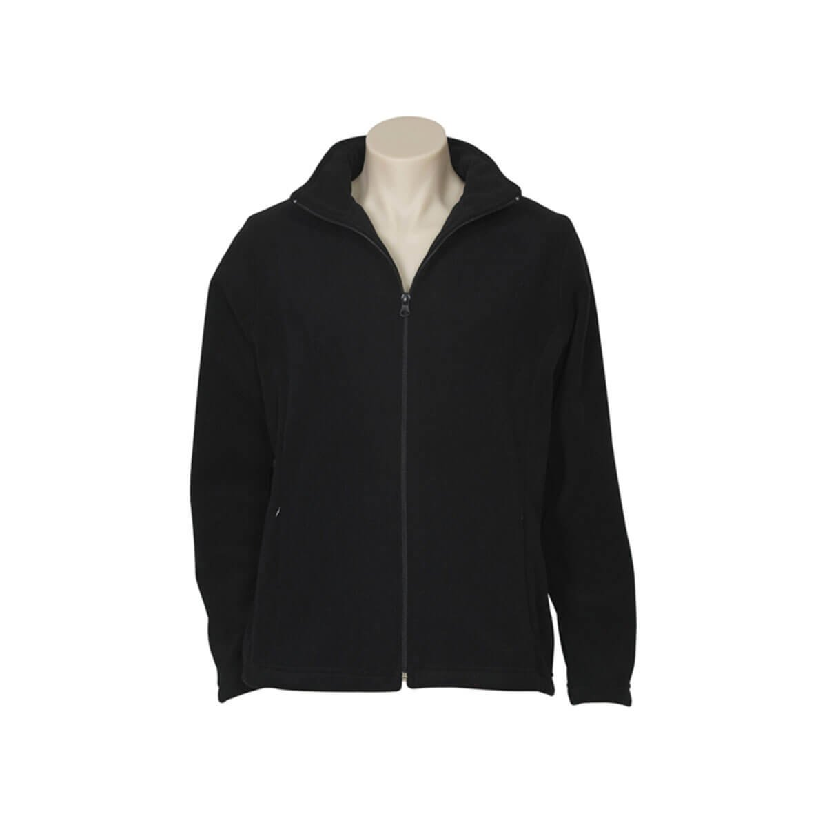 Ladies Plain Micro Fleece Jacket-Black