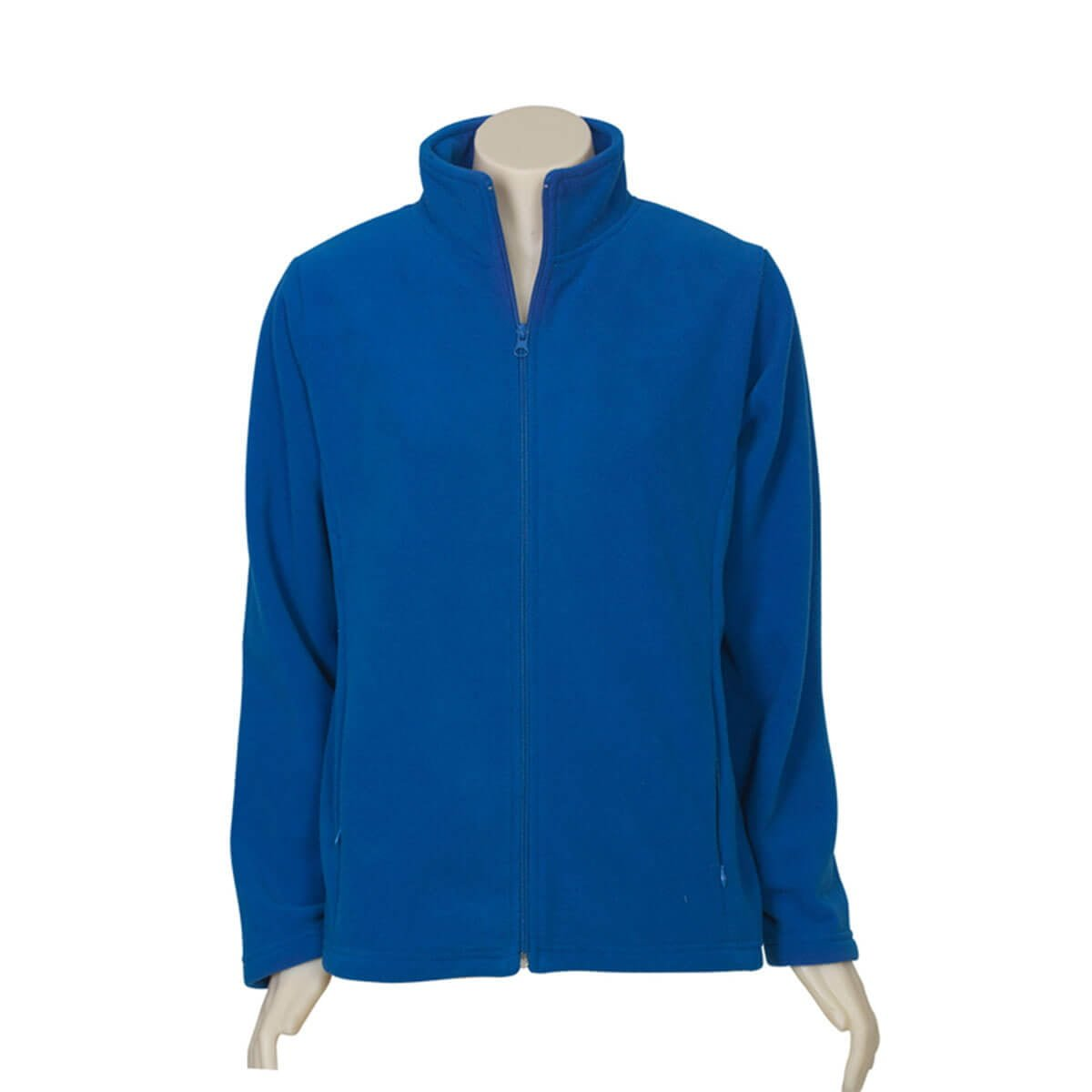 Ladies Plain Micro Fleece Jacket-Royal