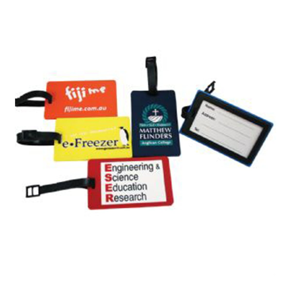 Custom PVC Luggage Tag – Original Rectangle Design-Available in any PMS colour.