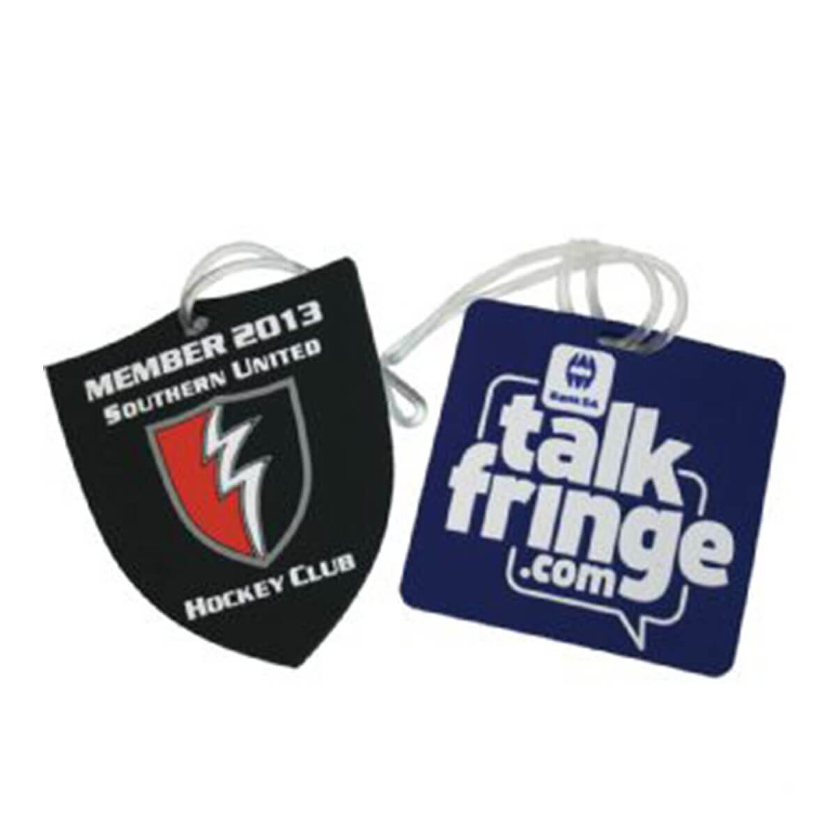 Custom-shape PVC Luggage Tag – Basic Design-Available in any PMS colour.