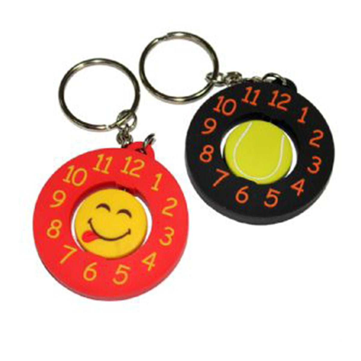 PVC Spinning Keyring-Available in any PMS colour.