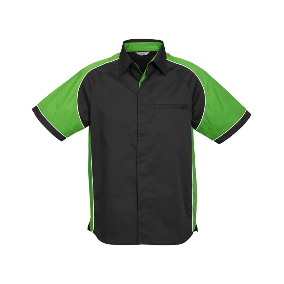 Mens Nitro Shirt-Black / Green / White