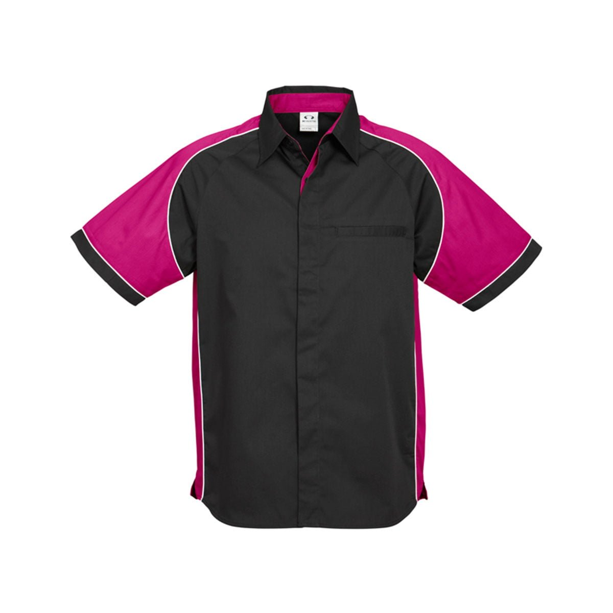Mens Nitro Shirt-Black / Magenta / White