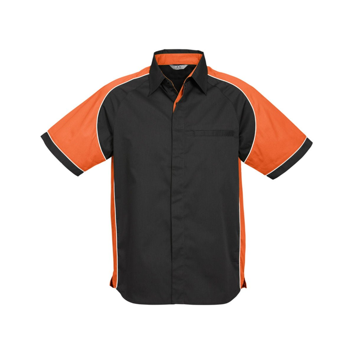 Mens Nitro Shirt-Black / Orange / White