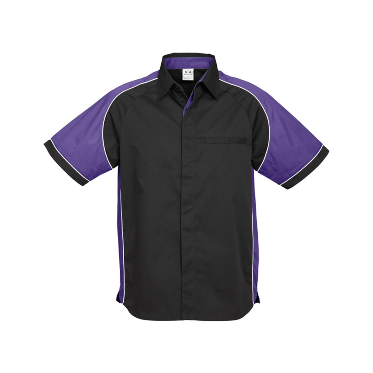 Mens Nitro Shirt-Black / Purple / White