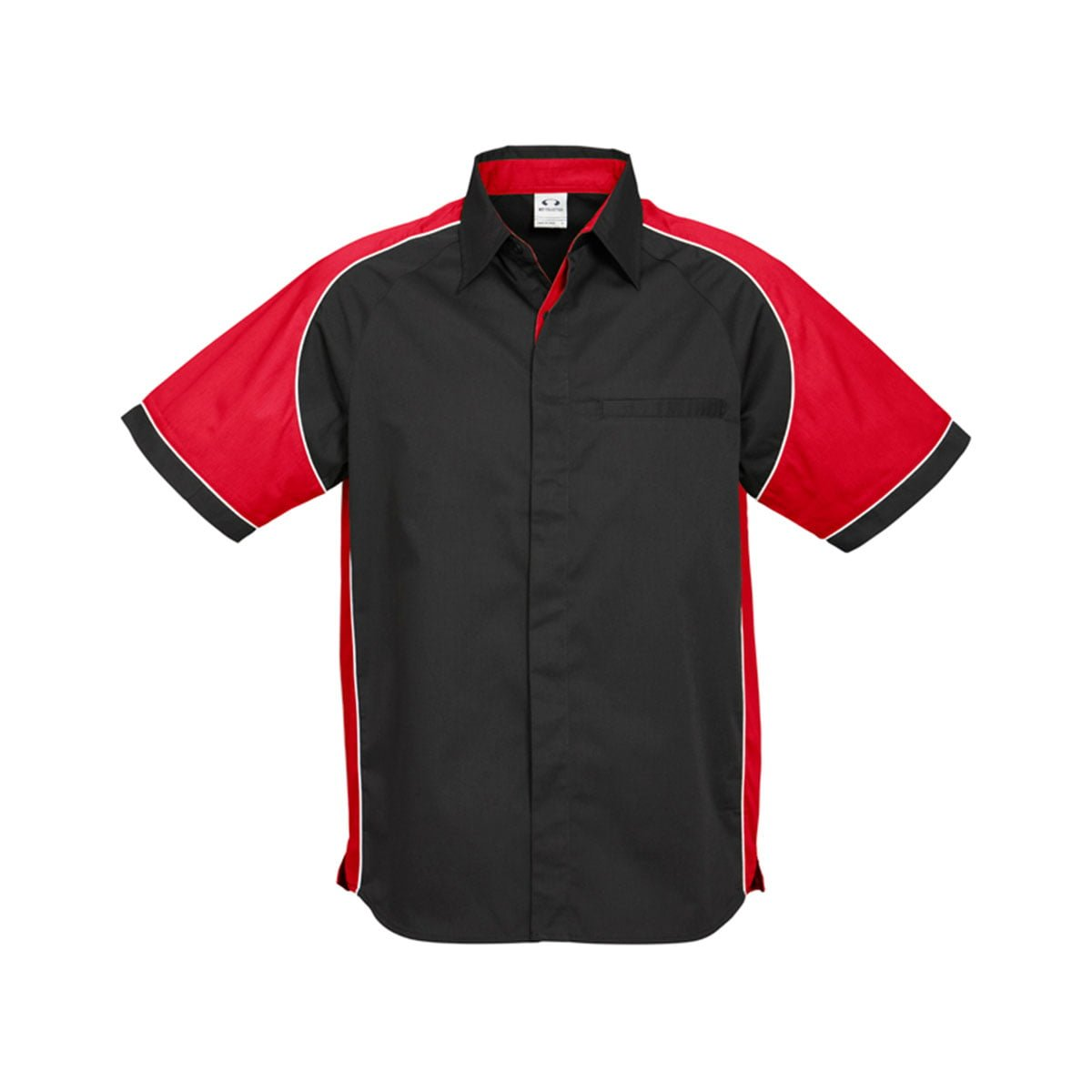 Mens Nitro Shirt-Black / Red / White