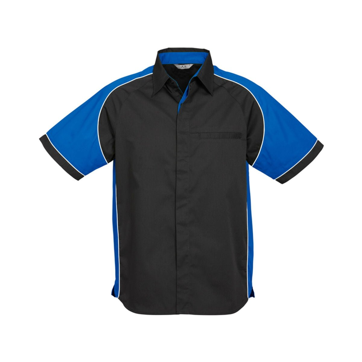 Mens Nitro Shirt-Black / Royal / White