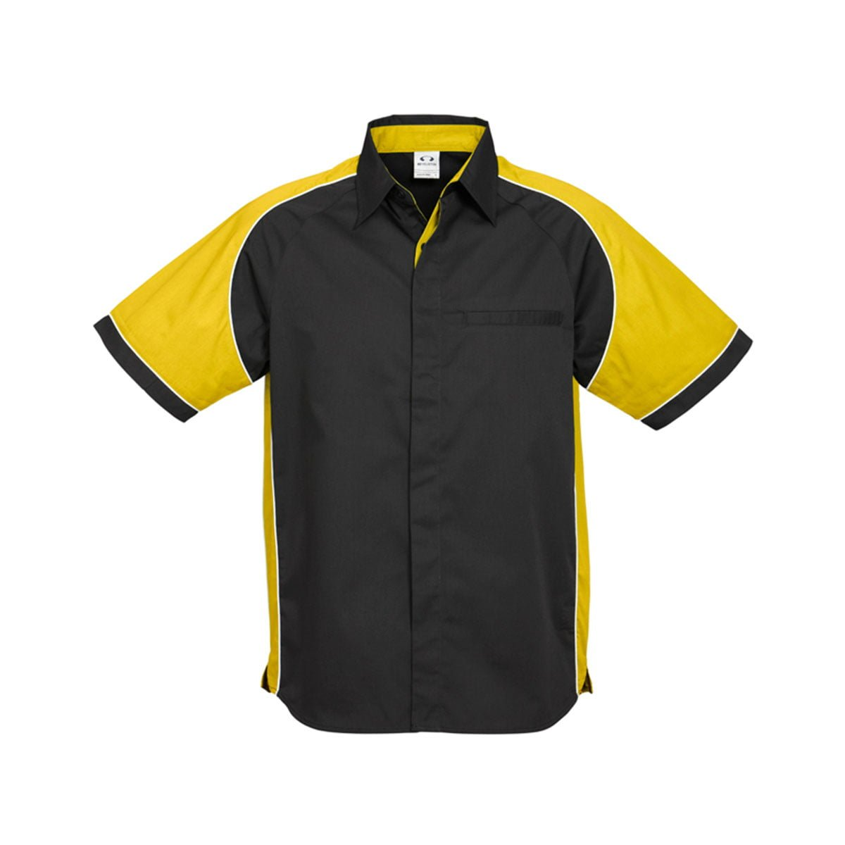 Mens Nitro Shirt-Black / Yellow / White