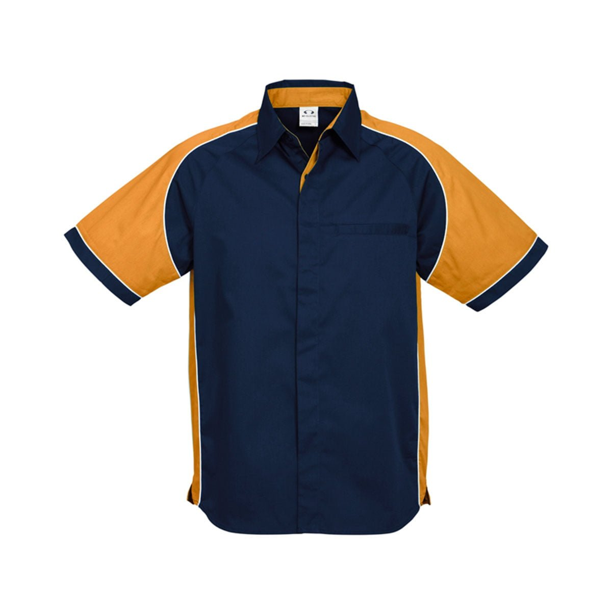 Mens Nitro Shirt-Navy / Gold / White