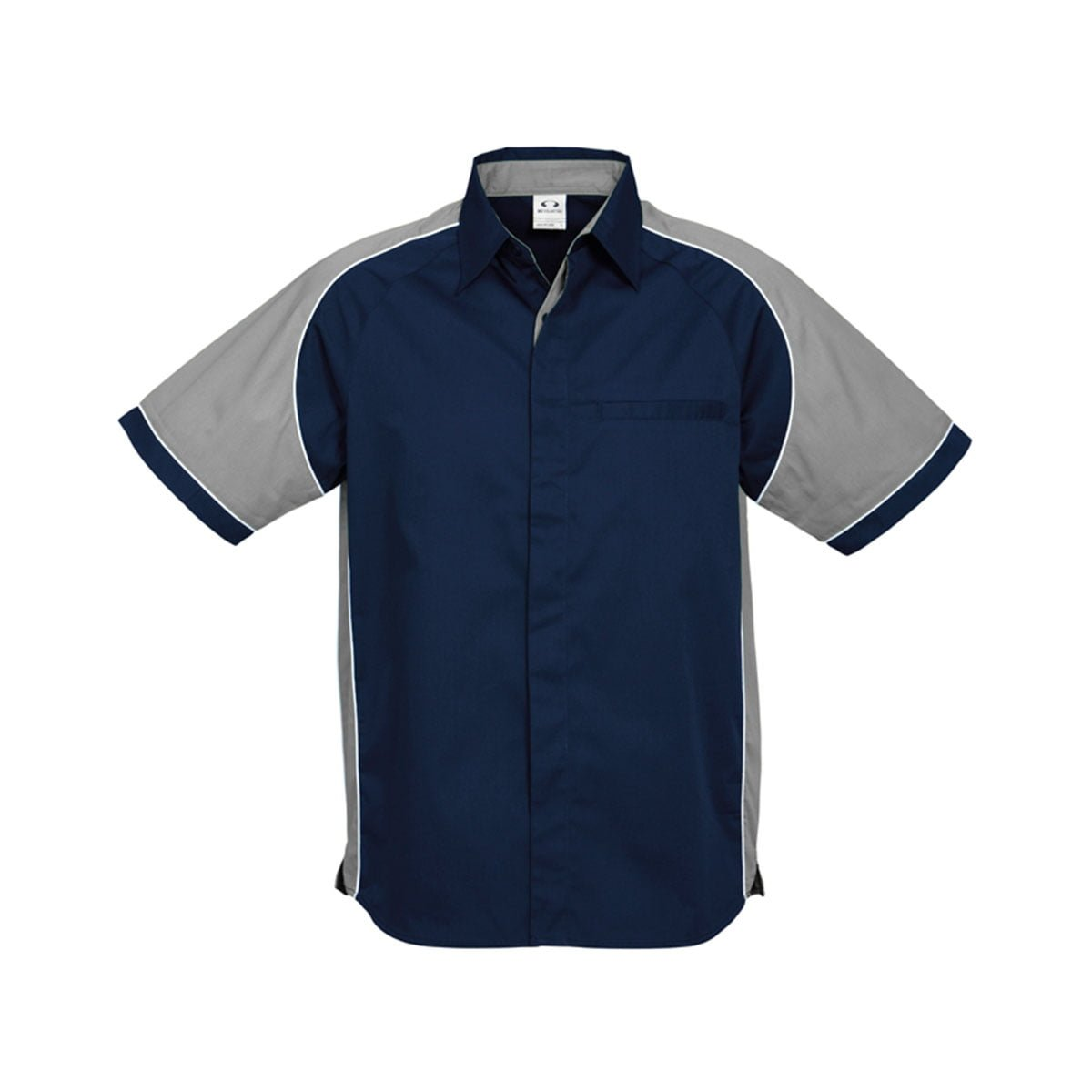 Mens Nitro Shirt-Navy / Grey / White