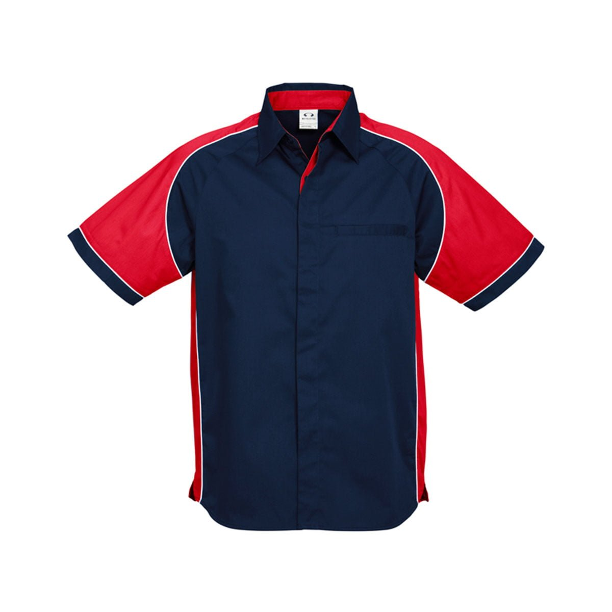 Mens Nitro Shirt-Navy / Red / White