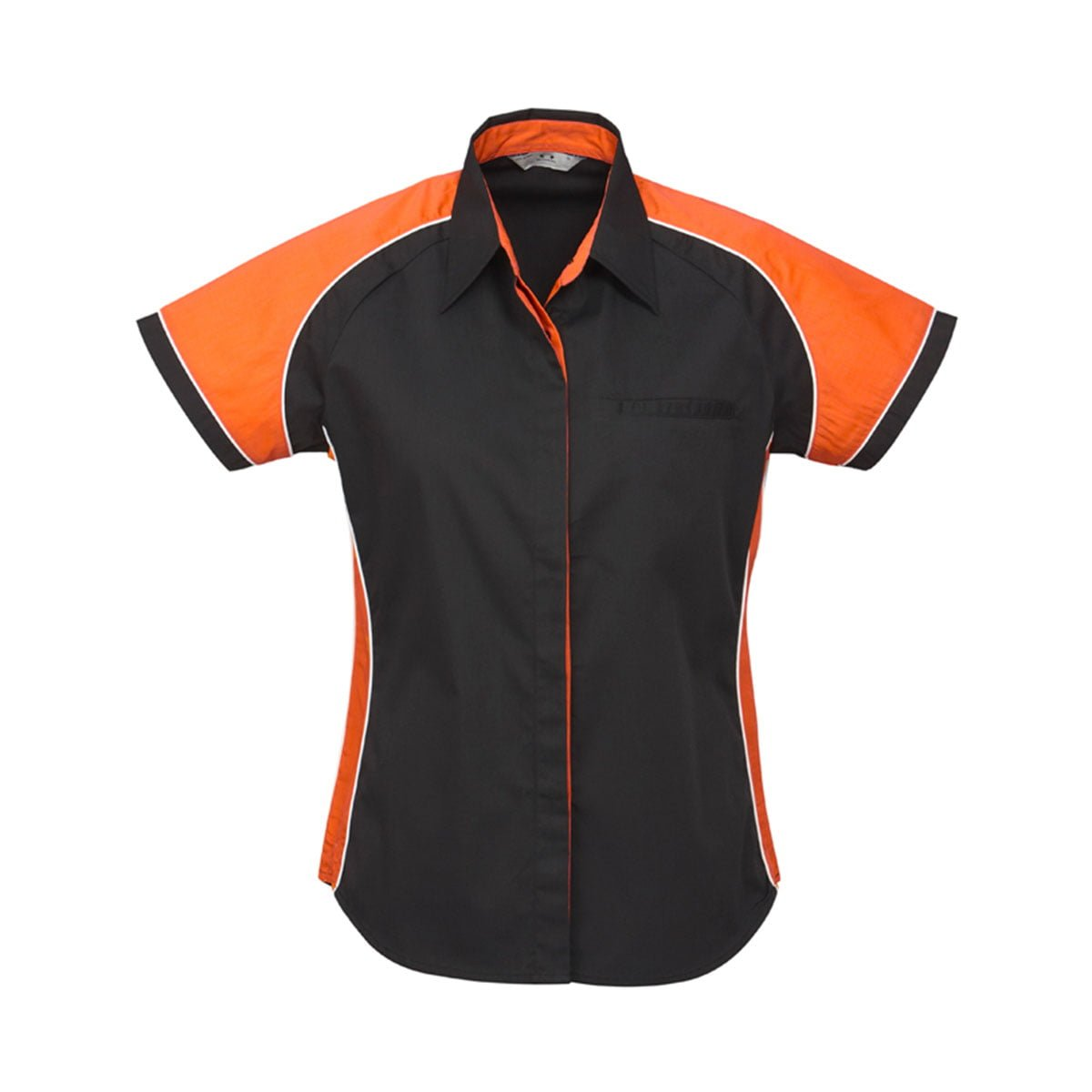 Ladies Nitro Shirt-Black / Orange / White