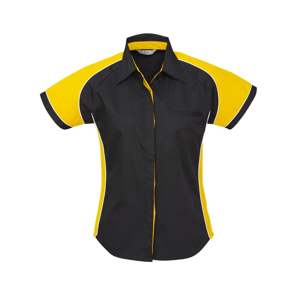 Ladies Nitro Shirt-Black / Yellow / White