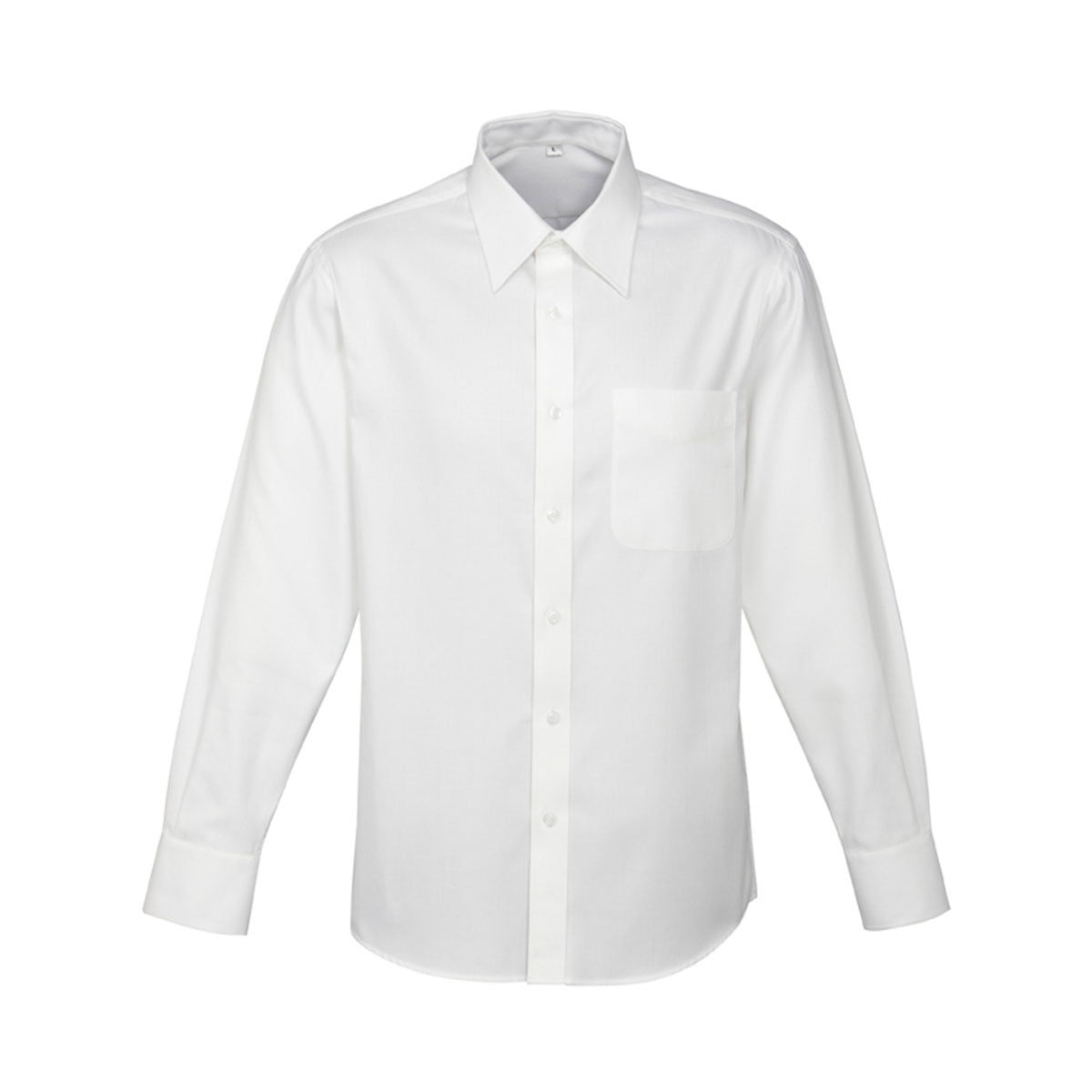 Mens Luxe Long Sleeve Shirt-White