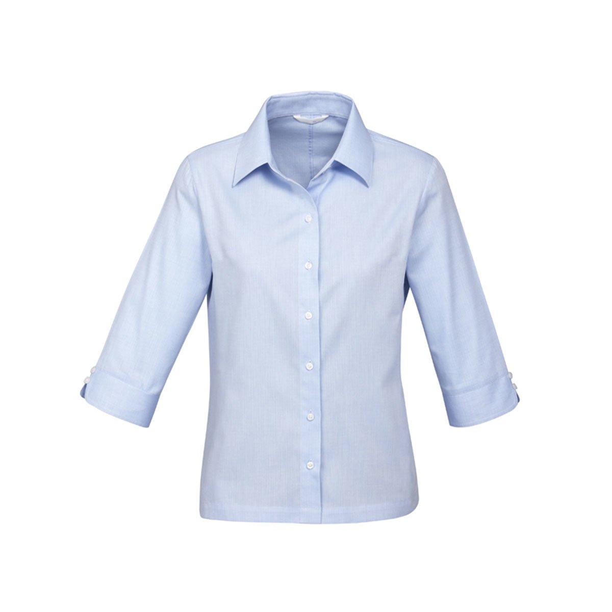 Ladies Luxe 3/4 Sleeve Shirt-Blue