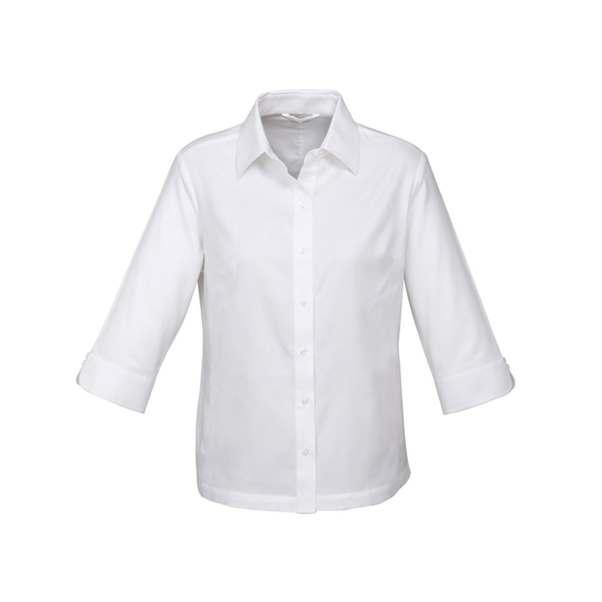 Ladies Luxe 3/4 Sleeve Shirt-White
