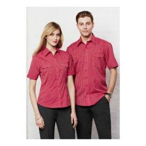 Ladies Cuban Short Sleeve Shirt