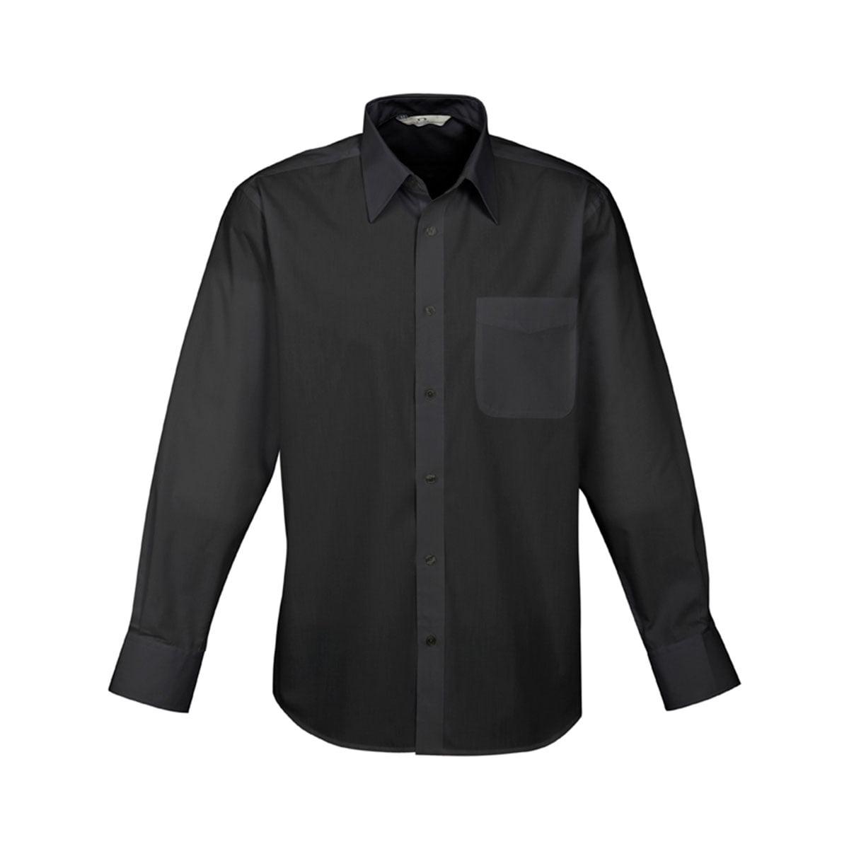 Mens Base Long Sleeve Shirt-Black