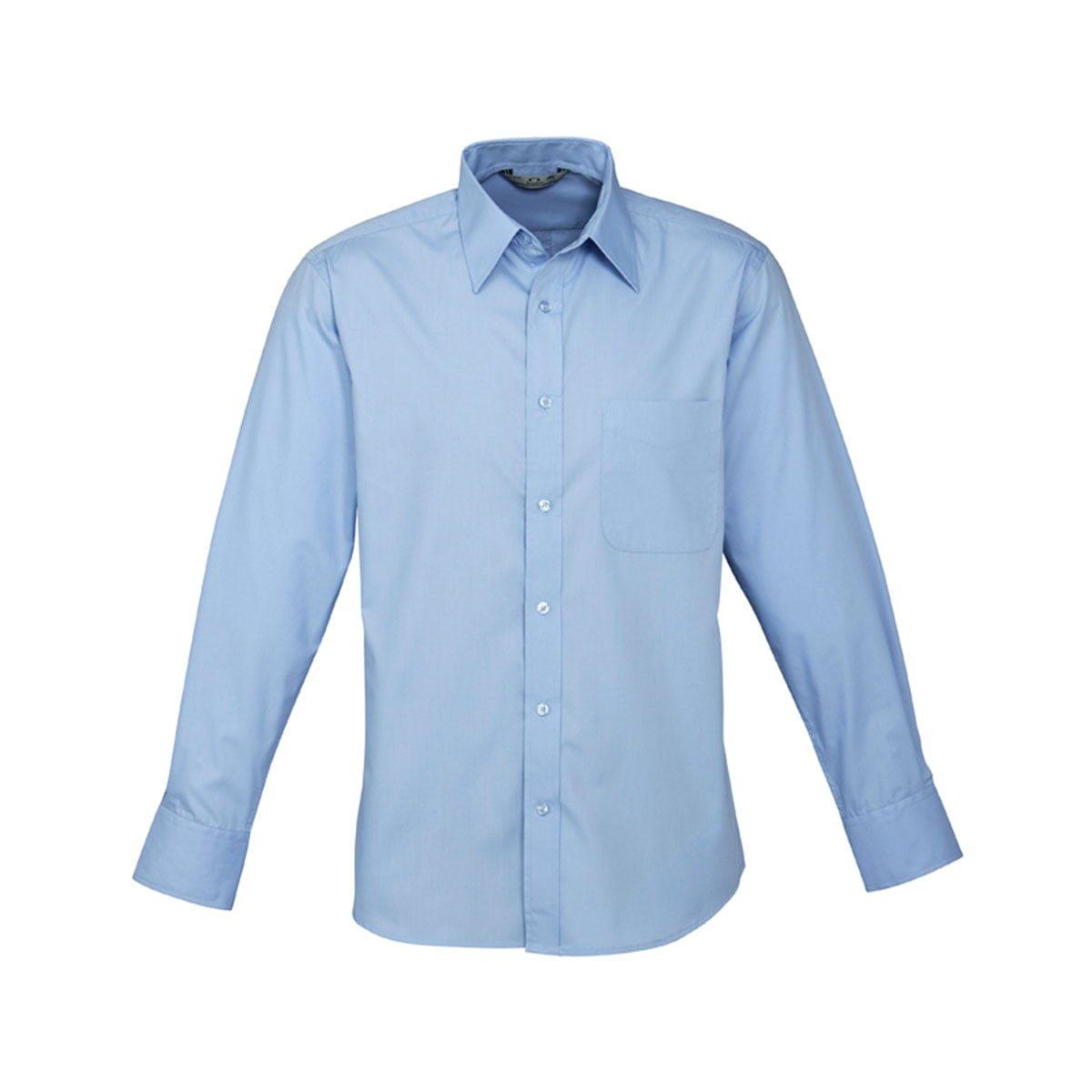 Mens Base Long Sleeve Shirt-Light Blue