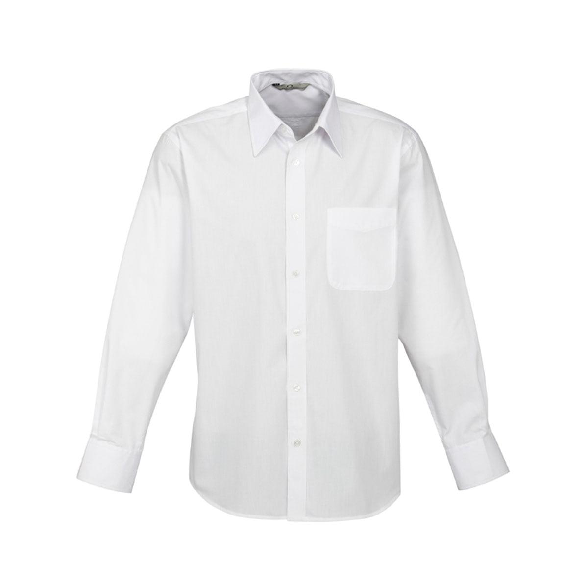 Mens Base Long Sleeve Shirt-White