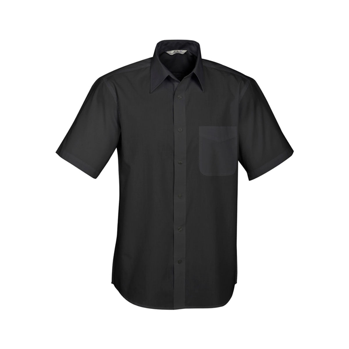 Mens Base Short Sleeve Shirt-Black