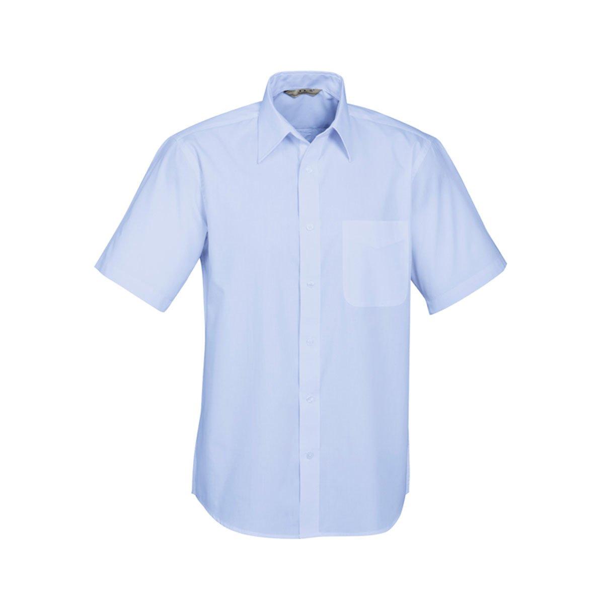 Mens Base Short Sleeve Shirt-Light Blue