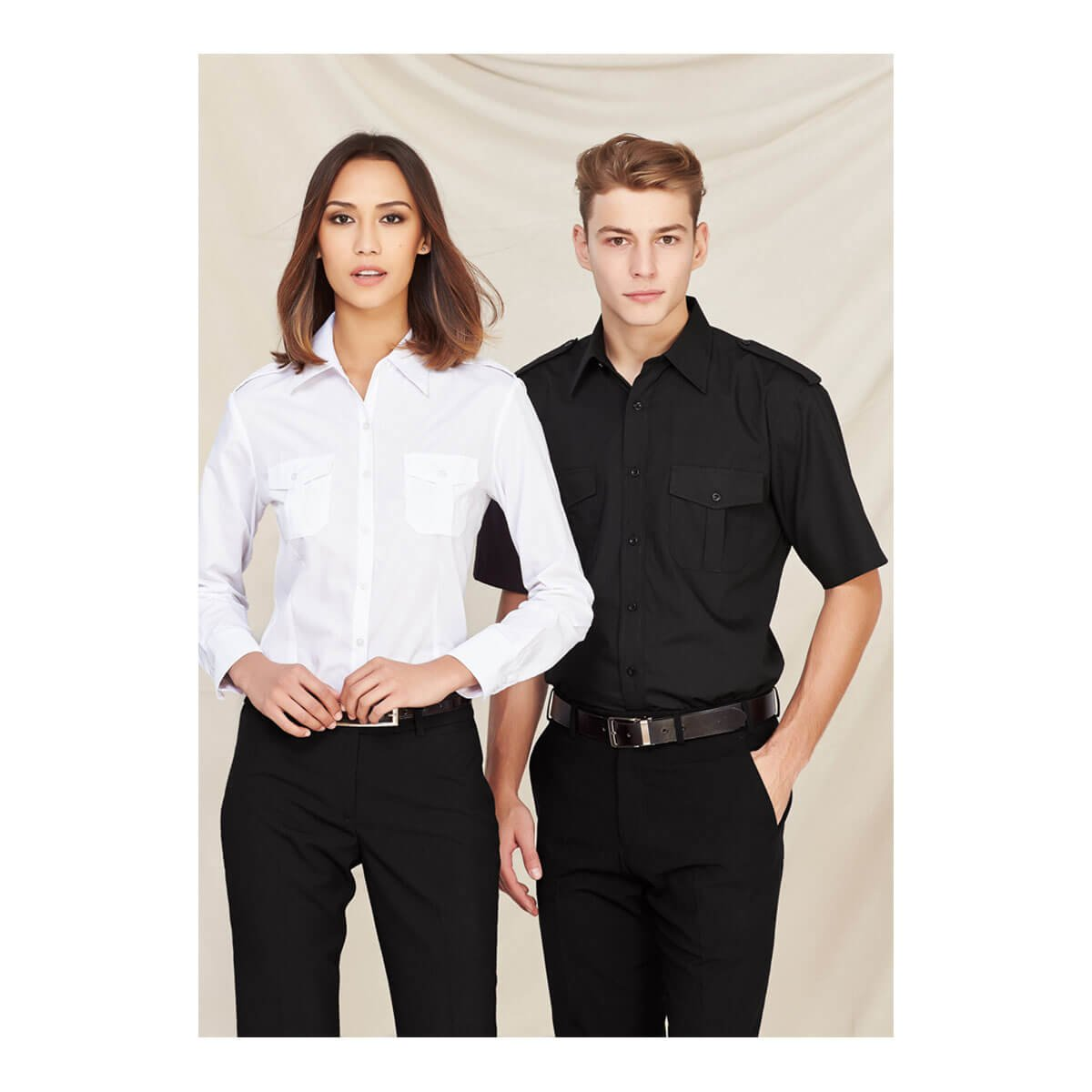 Mens Epaulette Short Sleeve Shirt