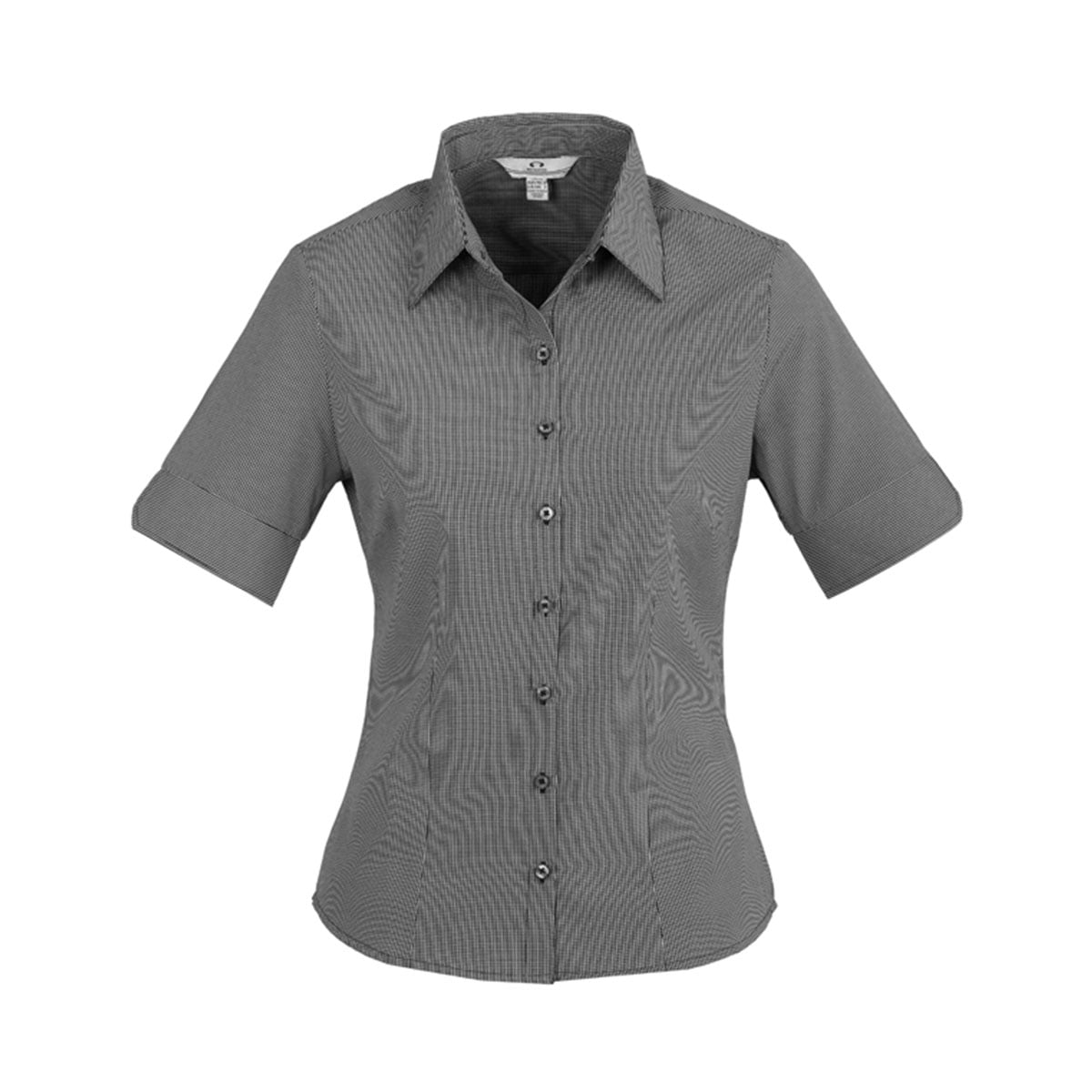Ladies Signature Short Sleeve Shirt-Graphite