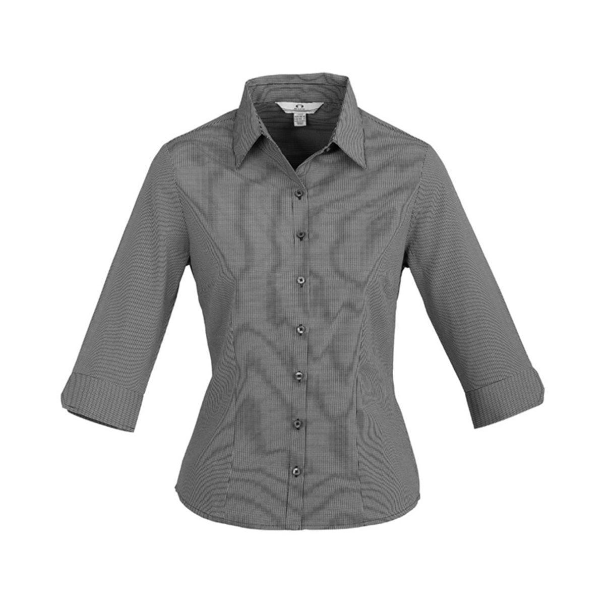 Ladies Signature 3/4 Sleeve Shirt-Graphite