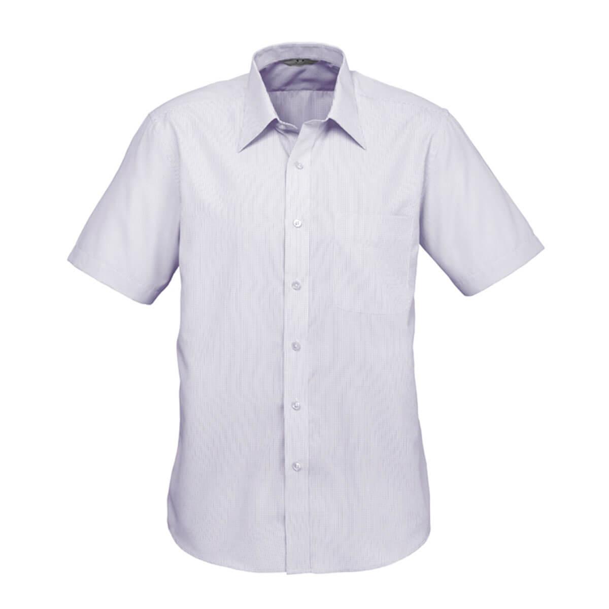 Mens Signature Short Sleeve Shirt-Grape