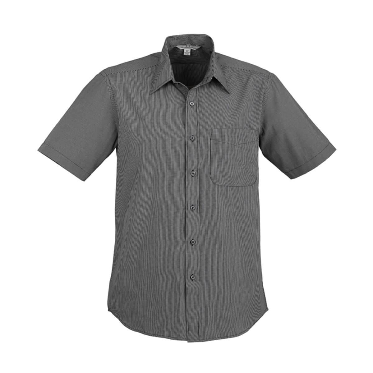 Mens Signature Short Sleeve Shirt-Graphite