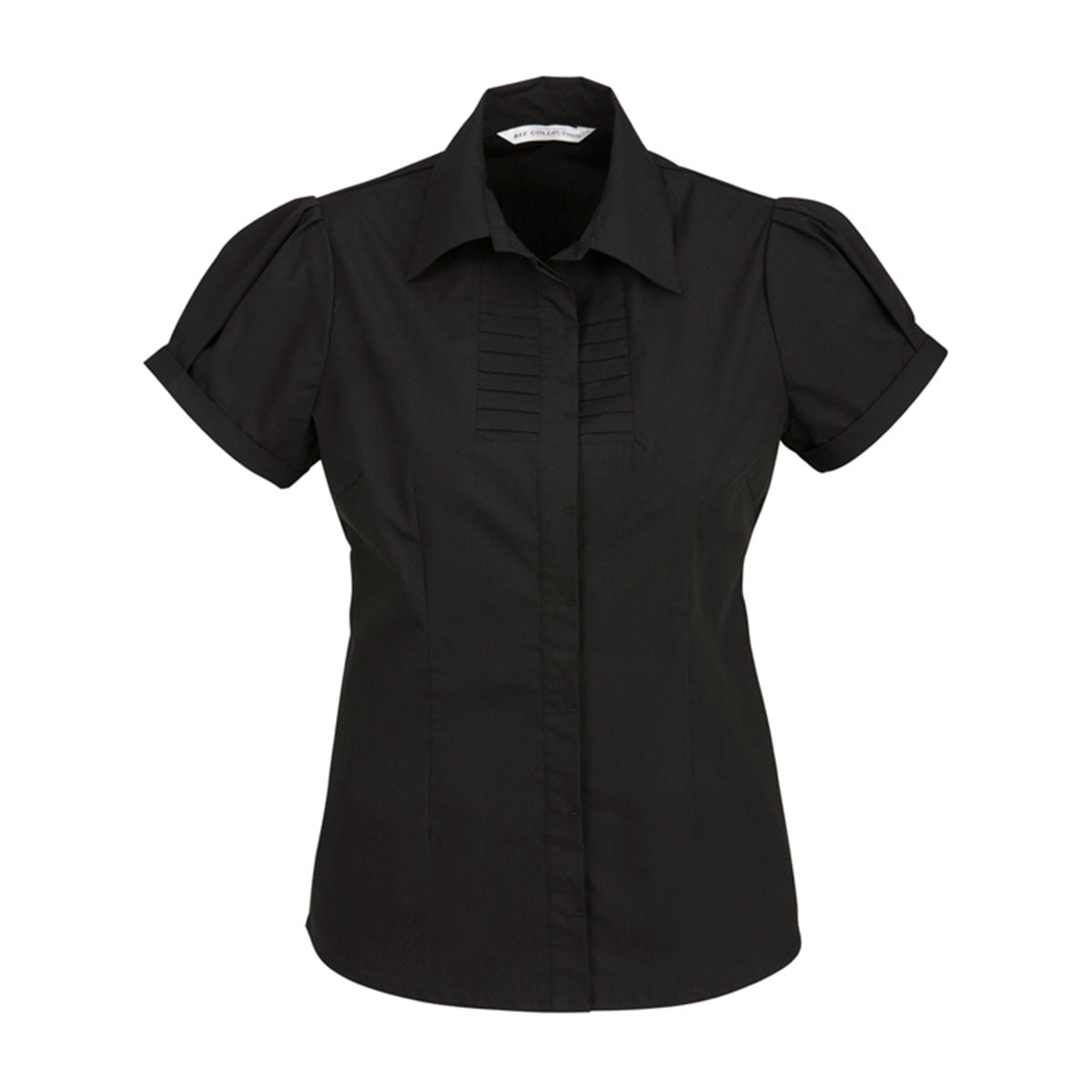Ladies Berlin Short Sleeve Shirt-Black