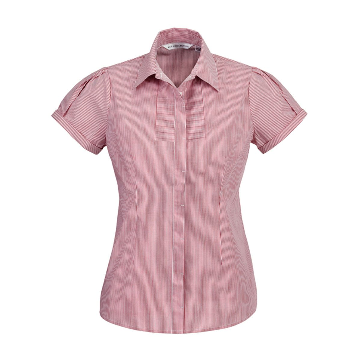 Ladies Berlin Short Sleeve Shirt-Cherry