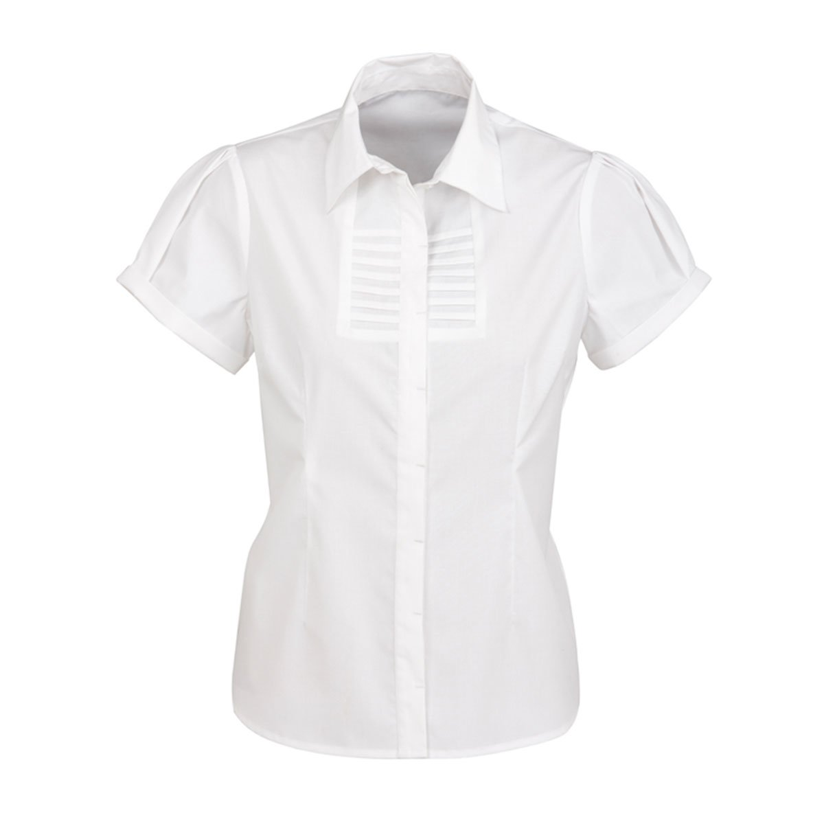 Ladies Berlin Short Sleeve Shirt-White
