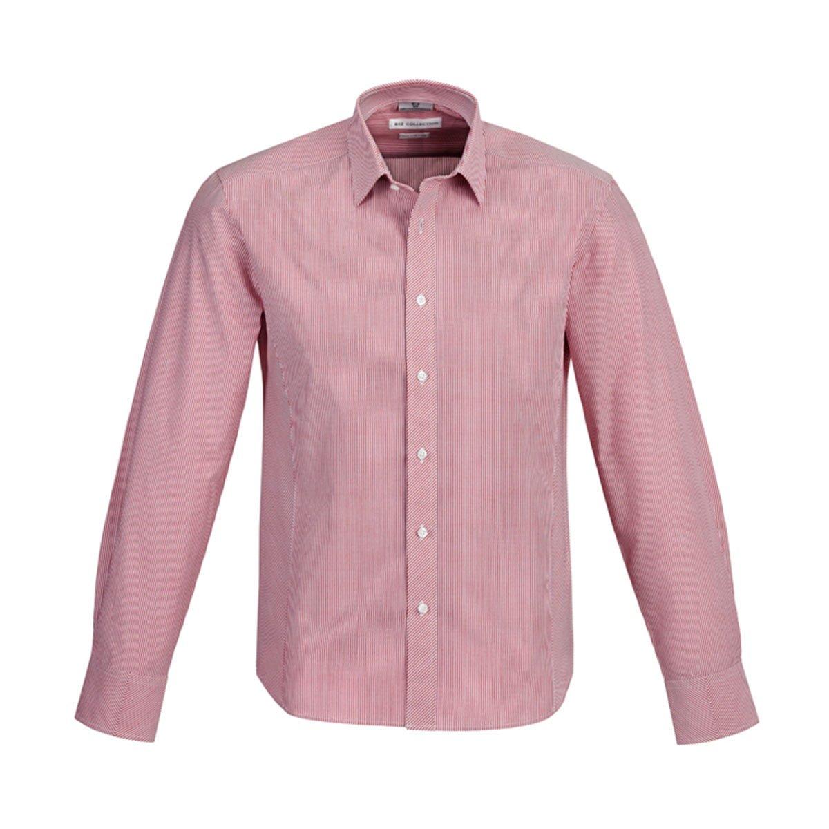 Mens Berlin Long Sleeve Shirt-Cherry