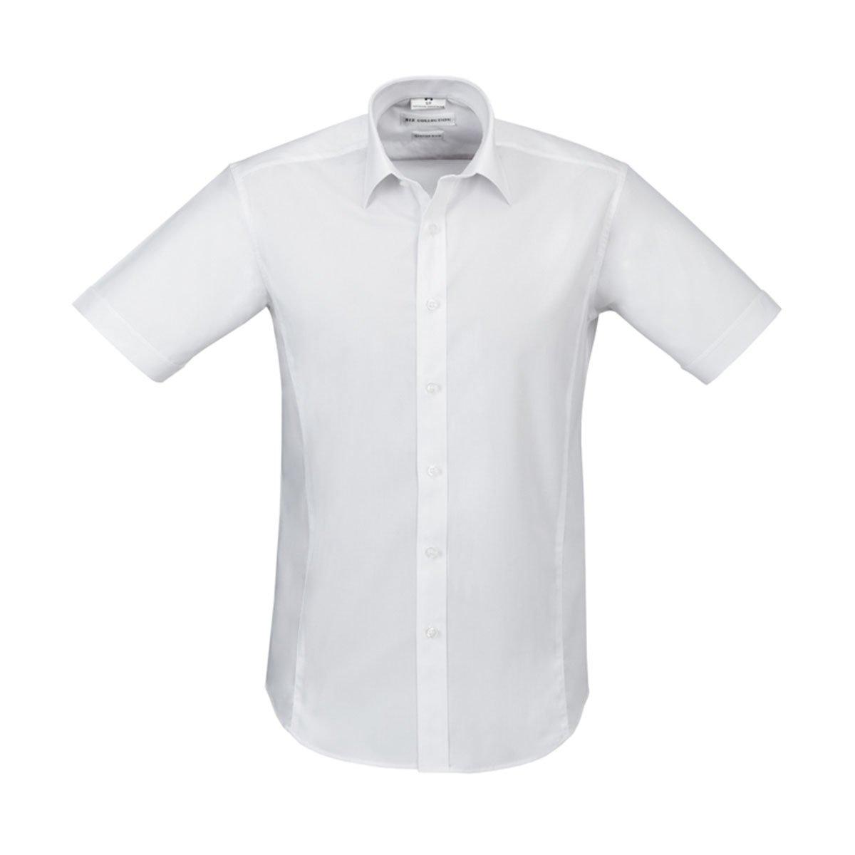 Mens Berlin Short Sleeve Shirt-White
